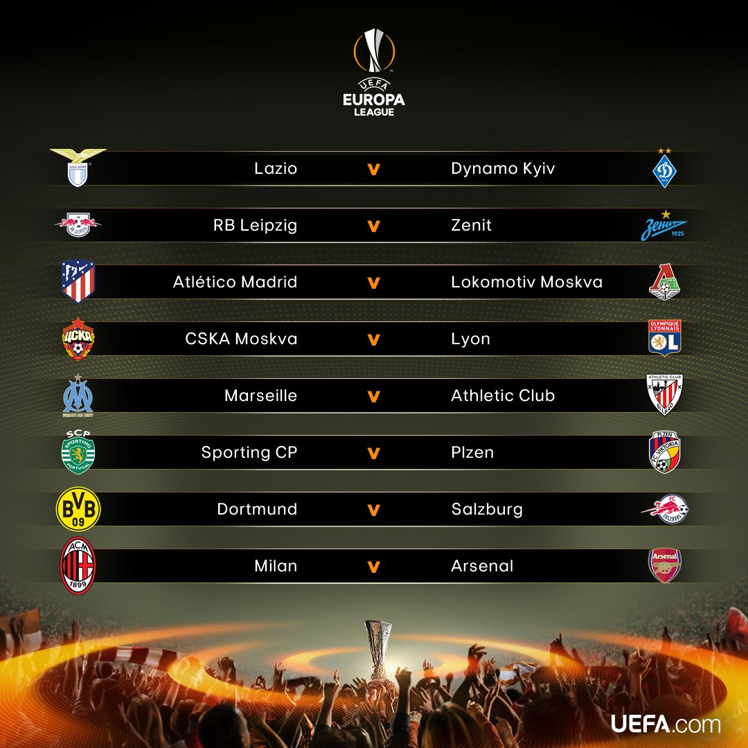 Resultados del sorteo de 1/8 de final de Europa League